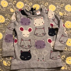 Cat and Mouse Sweatshirt Tunic/Dress